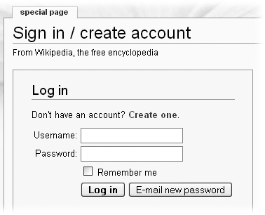 "Wikipedia's standard sign-in screen includes a ""Create one"" link for you to create an account and get yourself a user name."
