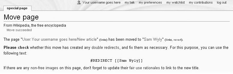 There's one more step after you've moved a page—fixing any double redirects. A double redirect is where article A has a link to page B; page B is a redirect that immediately takes the reader to page C; and page C is also a redirect that points to page D.