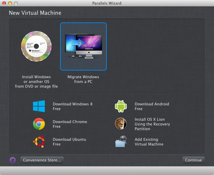 Getting started to create a virtual machine for Windows 8 on a Mac using Parallels