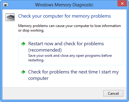 Checking for memory problems