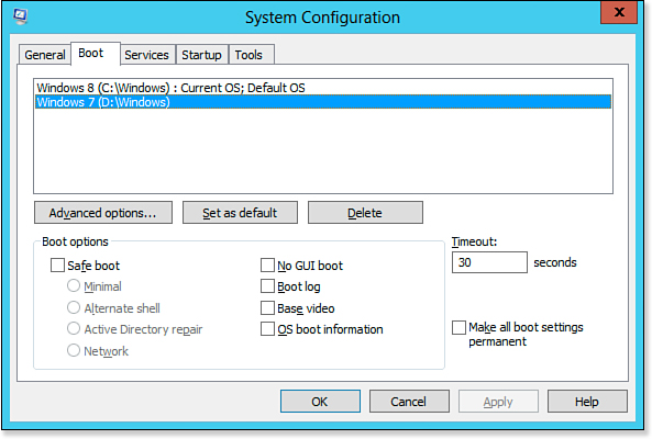 Using the System Configuration Utility to Modify the BCD