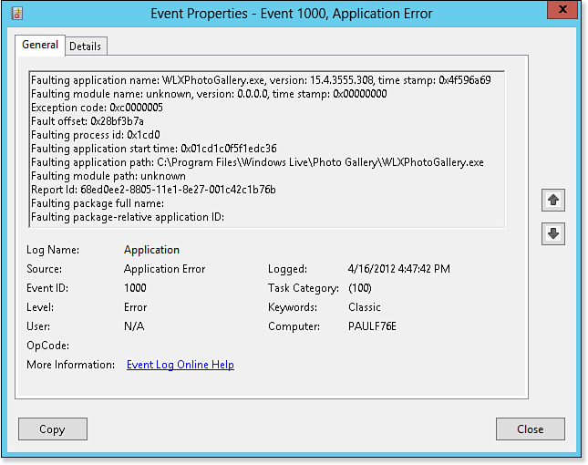 Does an Error or Warning Appear in the Event Viewer Logs? - Windows