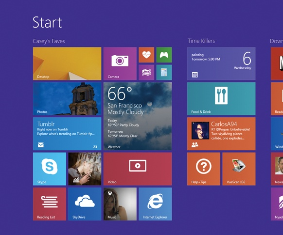 The old Start menu, which has served as the master list of your files and programs since Windows was a toddler, is gone.The Start screen is basically the Start menu, spread out.