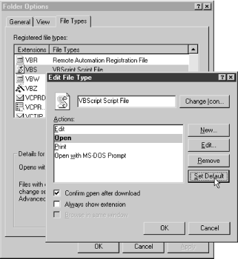 The File Types tool has been significantly improved in Windows Me from previous versions, although it could benefit from some additional streamlining and automation