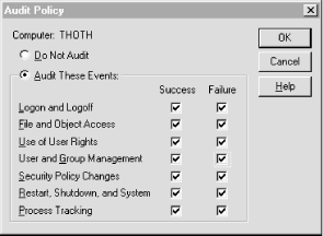 Setting an Audit Policy