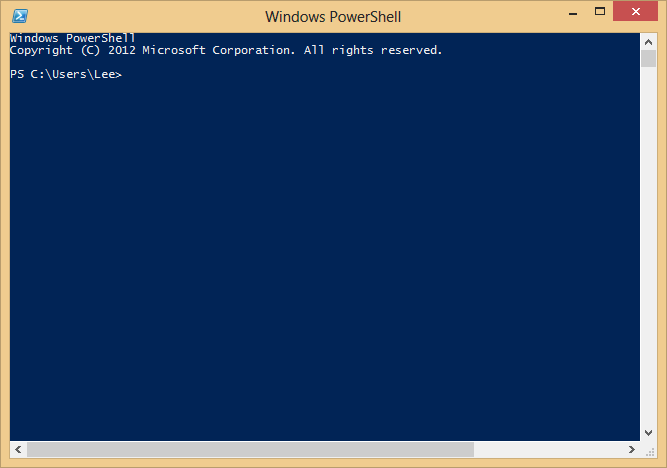 Windows PowerShell, ready for input