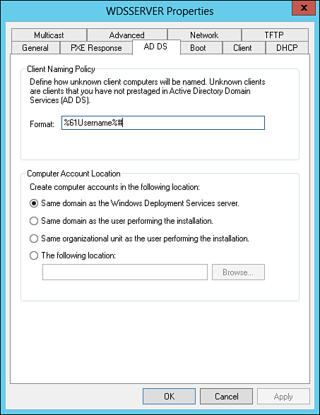 Pre-Creating Active Directory Computer Accounts for WDS