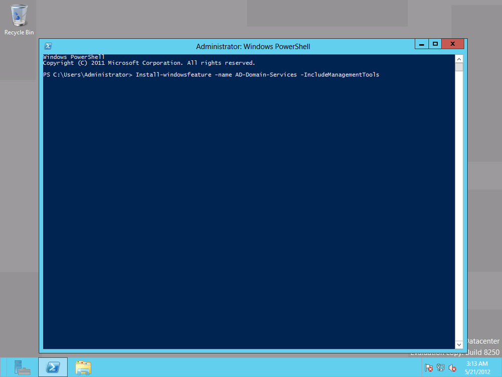 Deploying AD with PowerShell