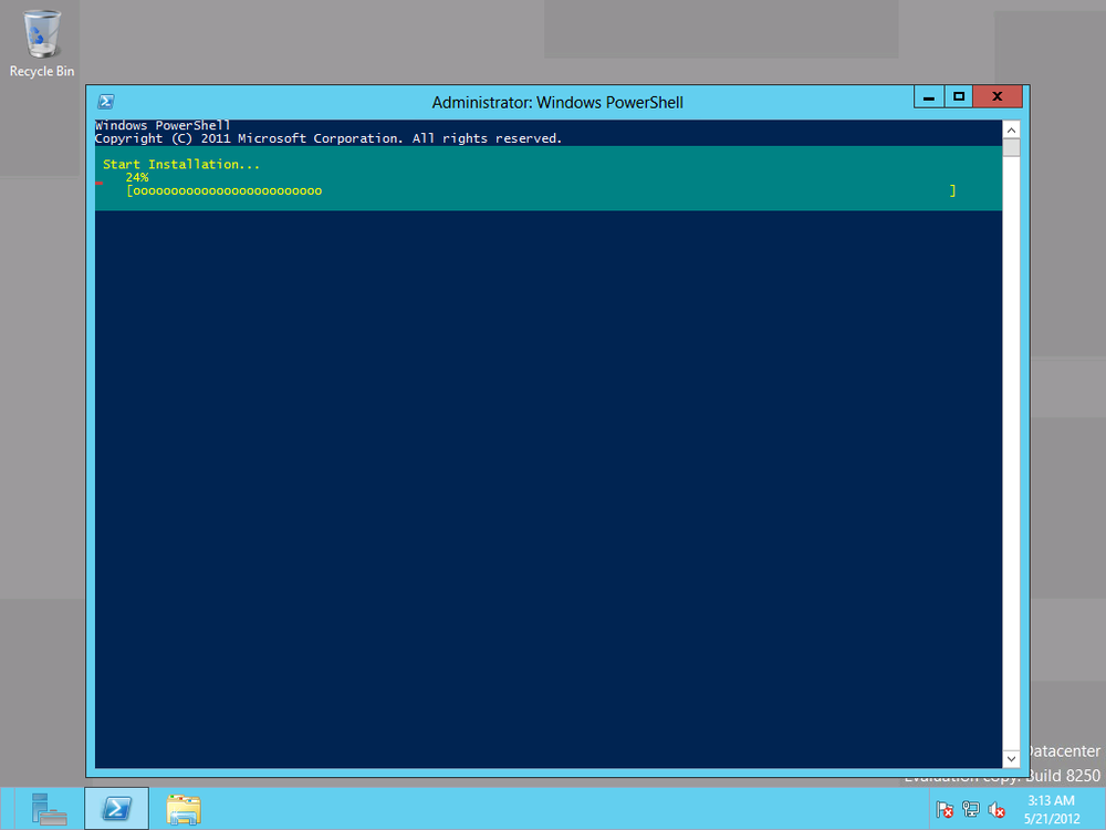 Installing AD in PowerShell