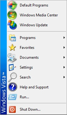 The classic Start menu, a recreation of the Windows 2000 Start menu, is more compact but less easily customized. It also lacks a Search box.
