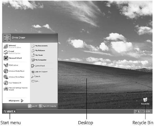 The Elements of the XP Desktop - Windows XP Home Edition: The