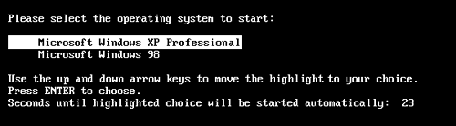 When you dual boot, this menu appears each time you turn on your PC, offering you a choice of OS. (If you don't choose in 30 seconds, the PC chooses for you.)