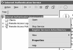 Registering IAS with Active Directory