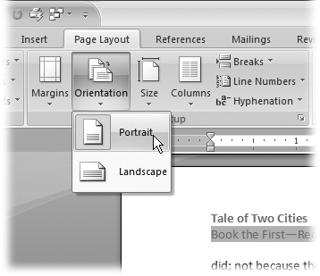 how to delete a manual page break in word 2007
