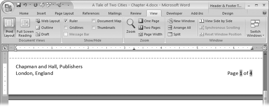 4  SETTING UP THE DOCUMENT: MARGINS, PAGE BREAKS, AND MORE