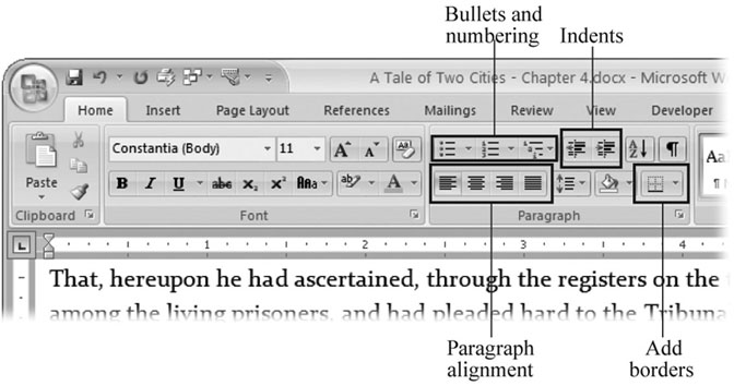 4 Formatting Text Paragraphs And Headings Word 2007 The