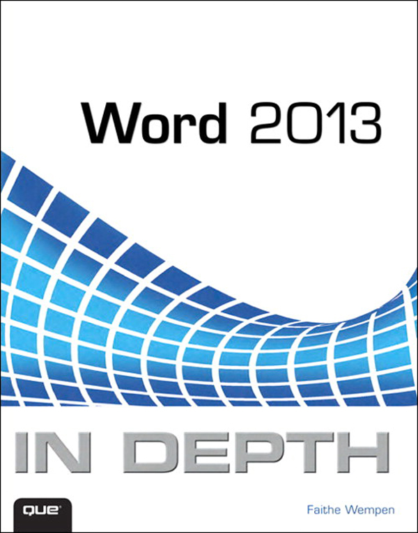 cover page on word