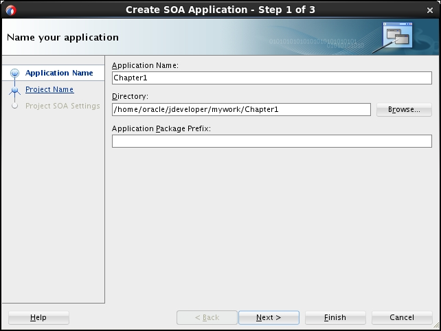 Time for action – creating the SOA composite application