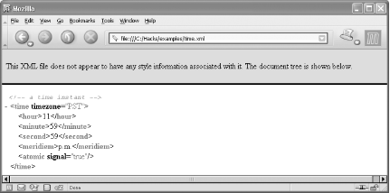 2  Display an XML Document in a Web Browser - XML Hacks [Book]