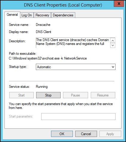 Monitoring Windows services
