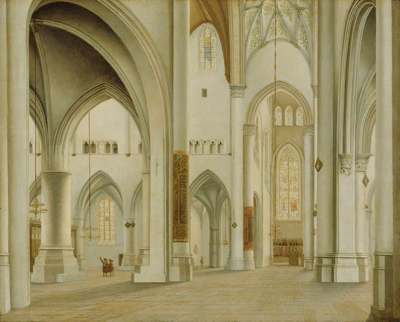 Pieter Jansz. Saenredam (Dutch 1597 - 1665) The Interior of St. Bavo Haarlem 1628 Oil on panel