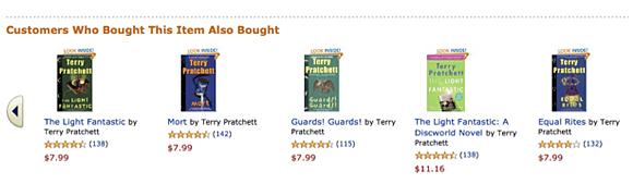 Terry Pratchett books at Amazon
