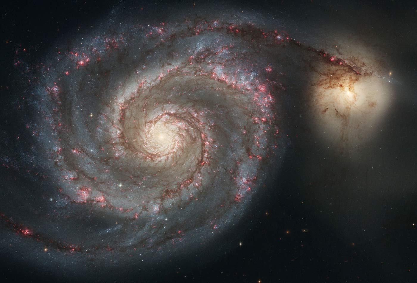 The Whirlpool Galaxy (Spiral Galaxy M51, NGC 5194).