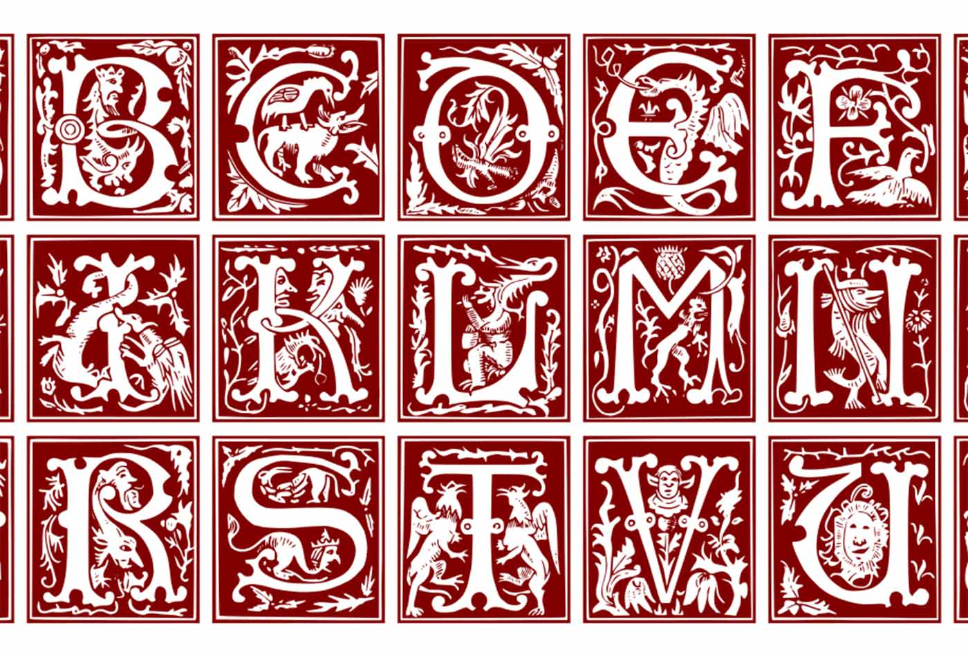 Ornamental Latin alphabet