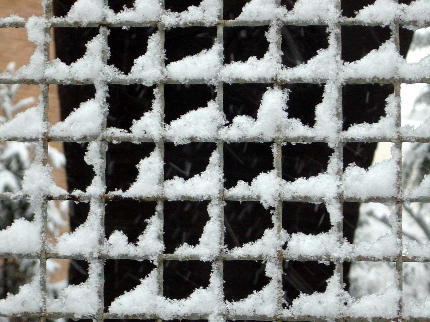 Snow in Milan.
