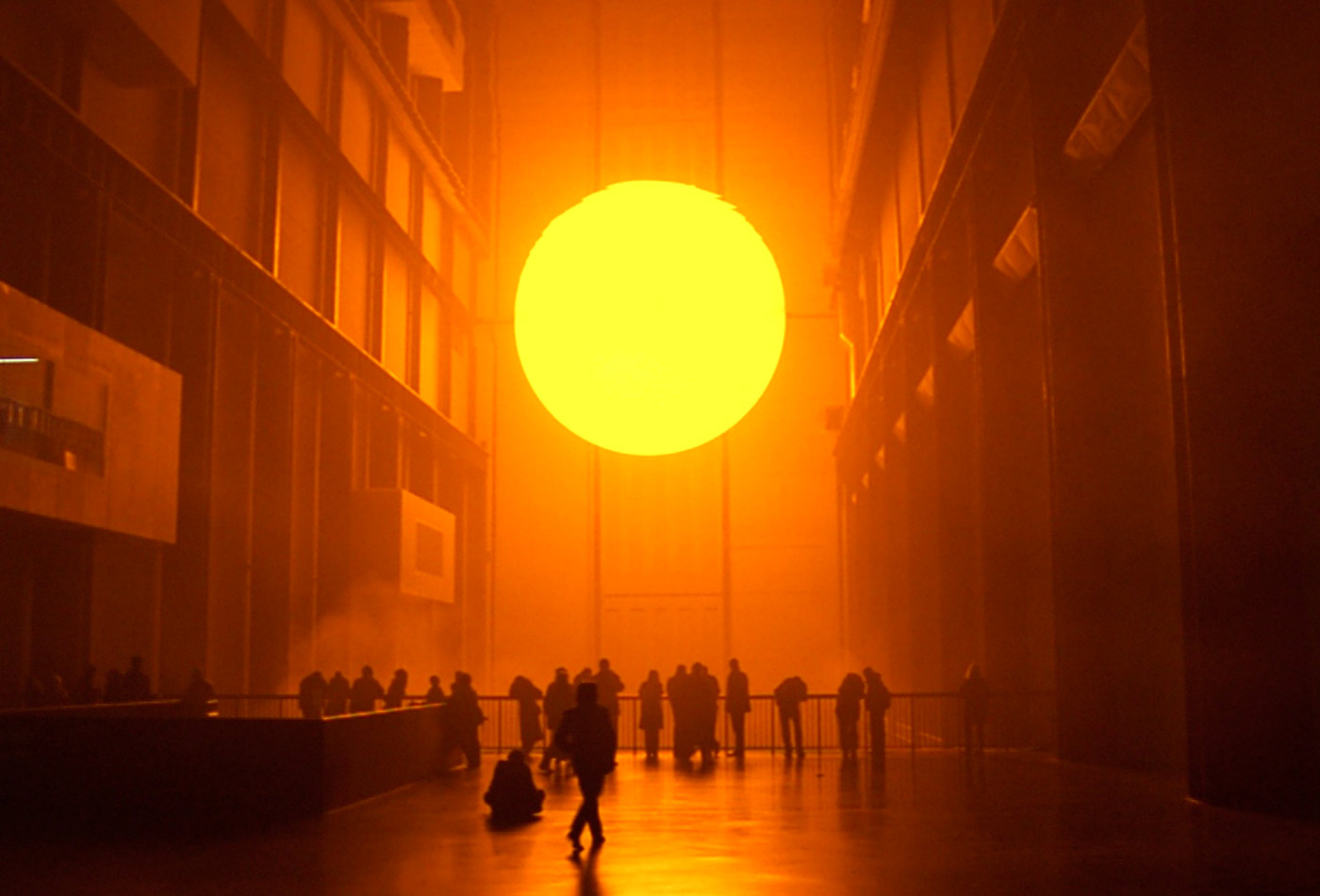 A sun simulacrum by Olafur Eliasson.