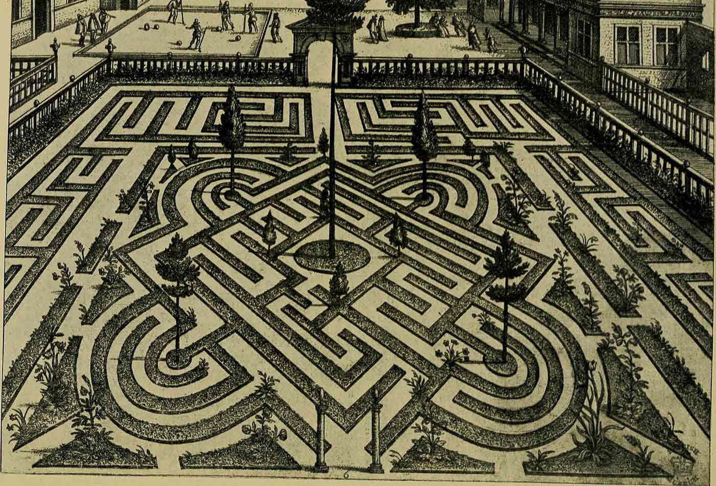 """Image from page 163 of """"Mazes and labyrinths; a general account of their history and developments"""" (1922)."""