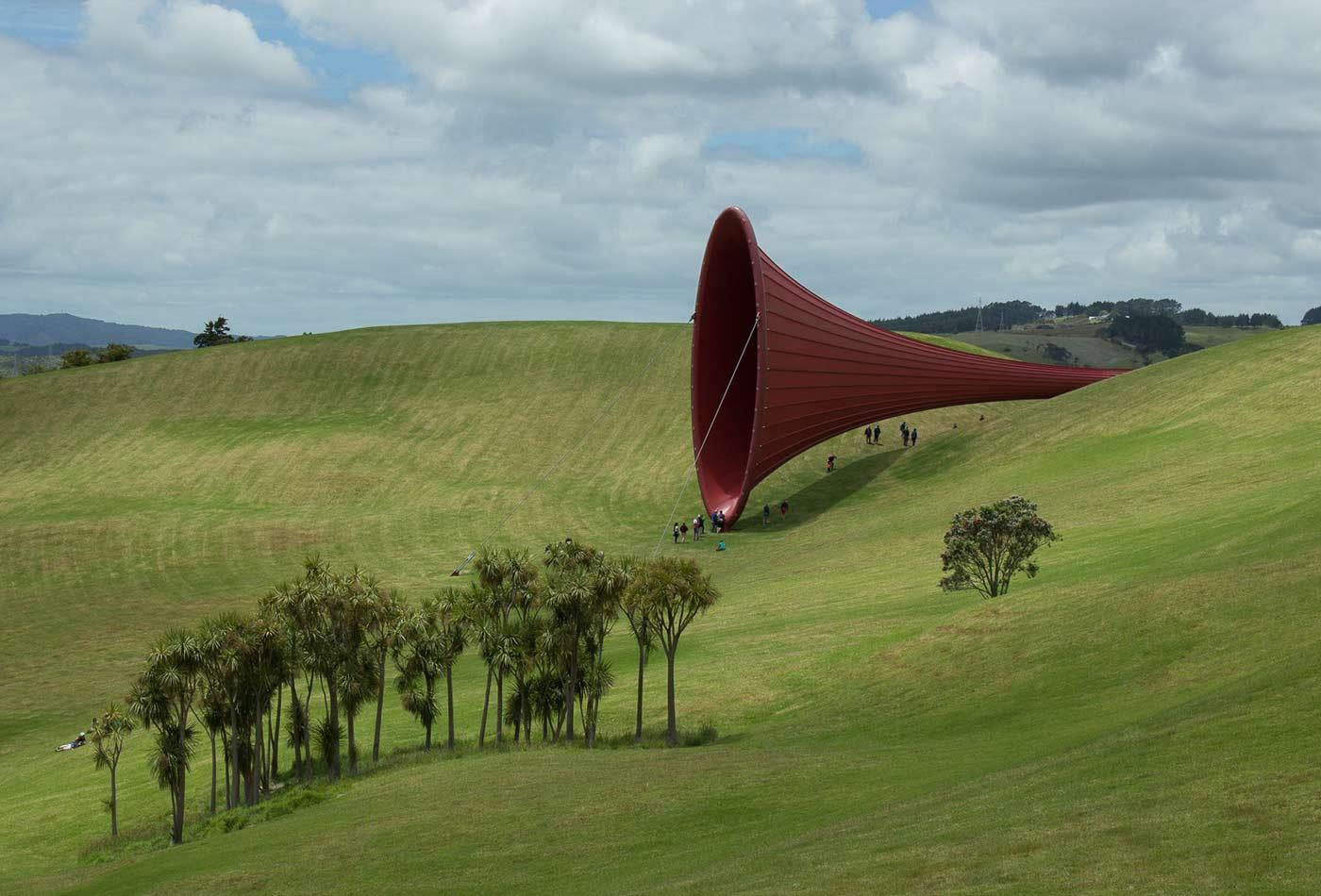 Anish Kapoor sculpture.