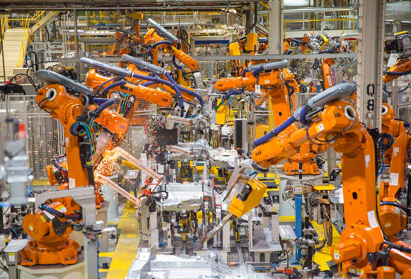 Land Rover's production line in Halewood, UK.