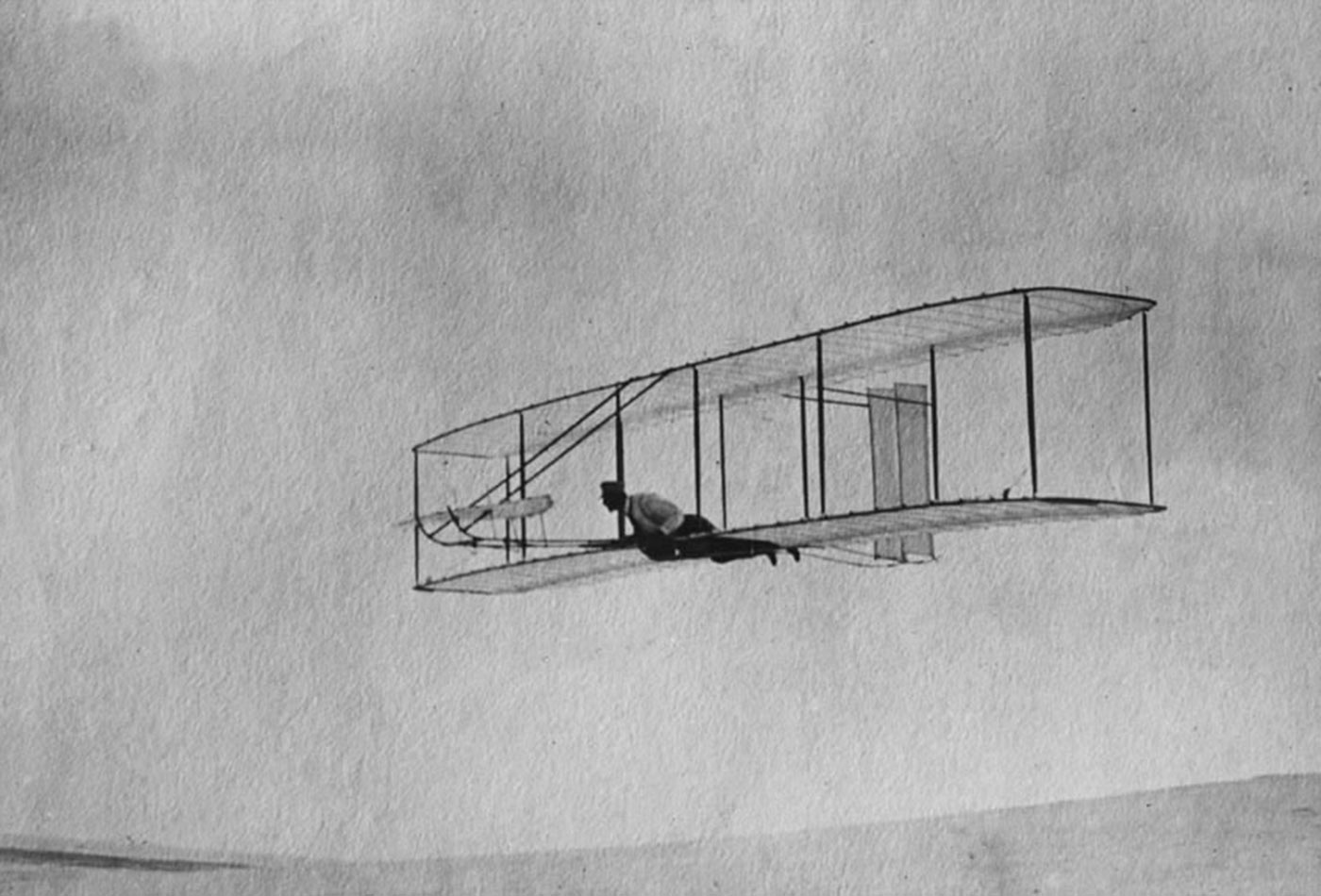 The 1902 Wright Glider on one of its more than 700 flights.