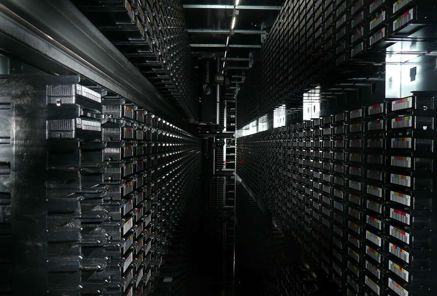 Tape library, CERN, Geneva 2.