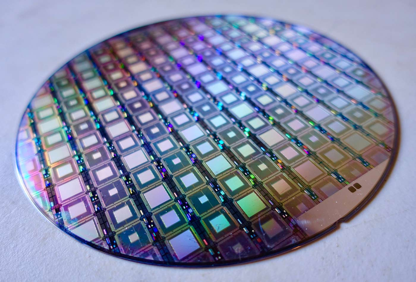 A Wafer of the Latest D-Wave Quantum Computers