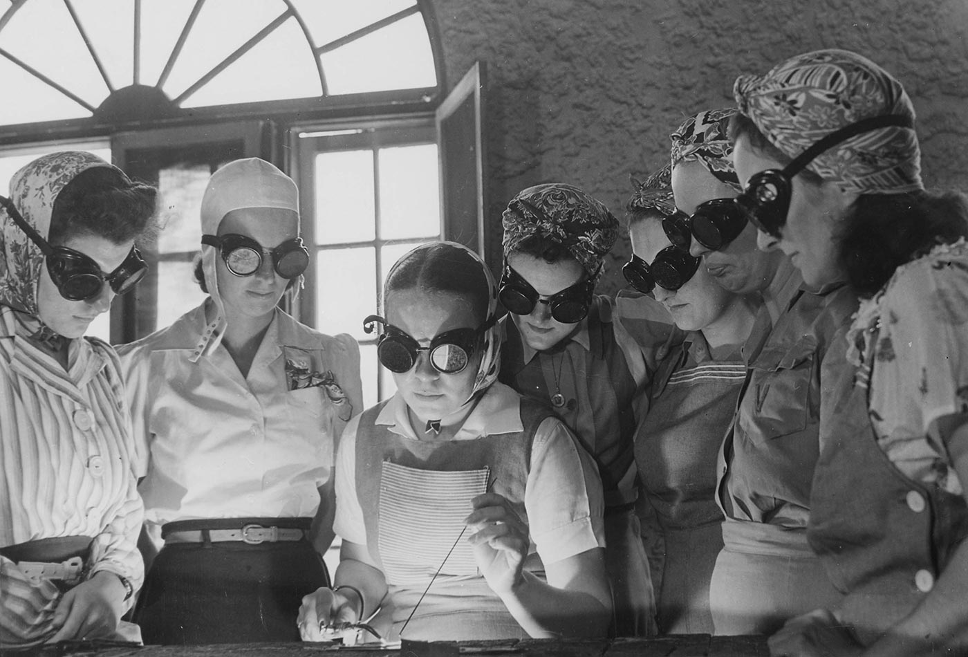 Women from all over central Florida are getting into vocational schools to learn war work. 1942.