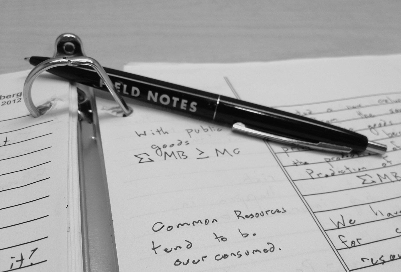 Field notes + economics.