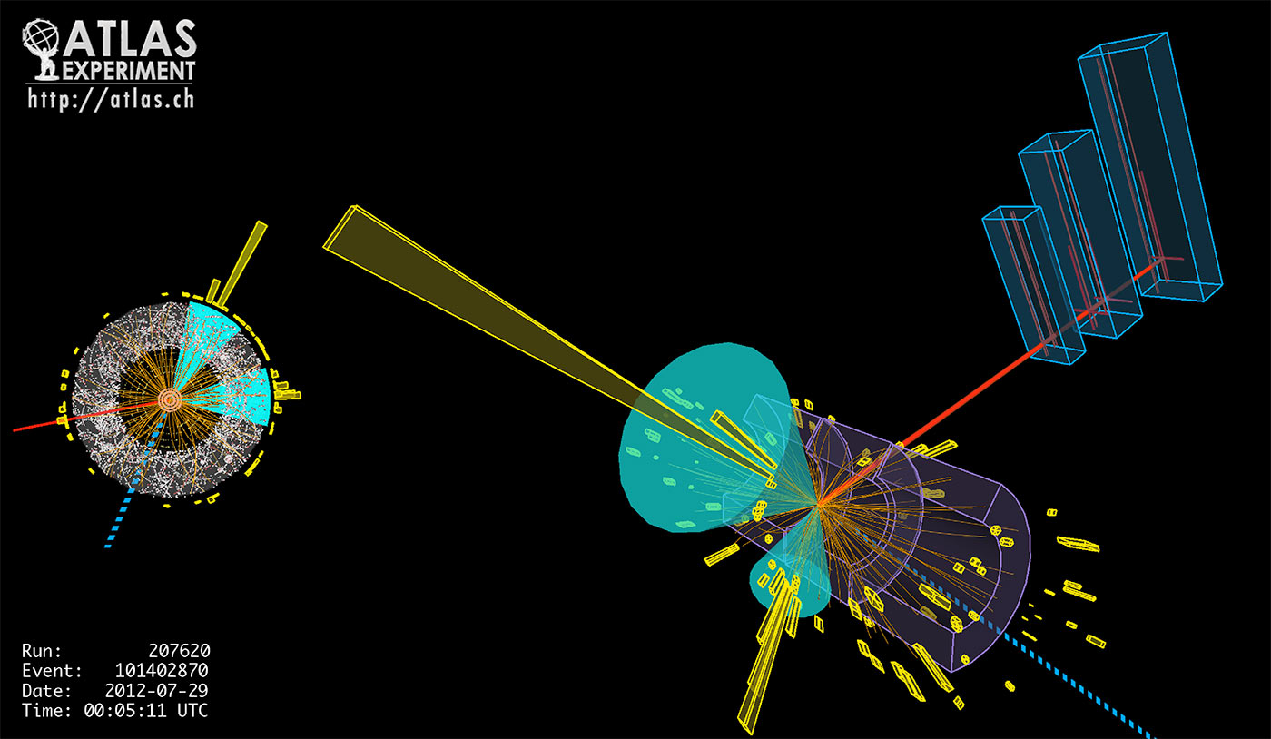 A collision in the ATLAS detector