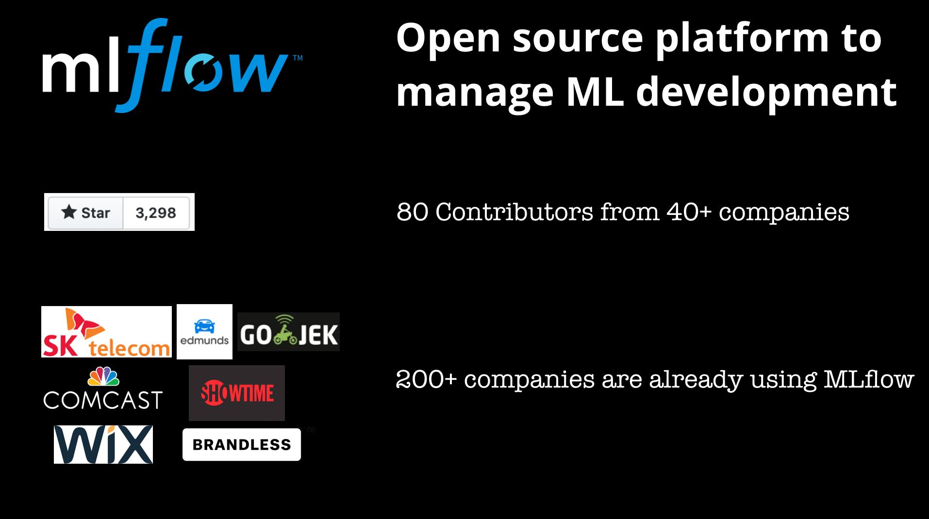Model development tools like MLflow