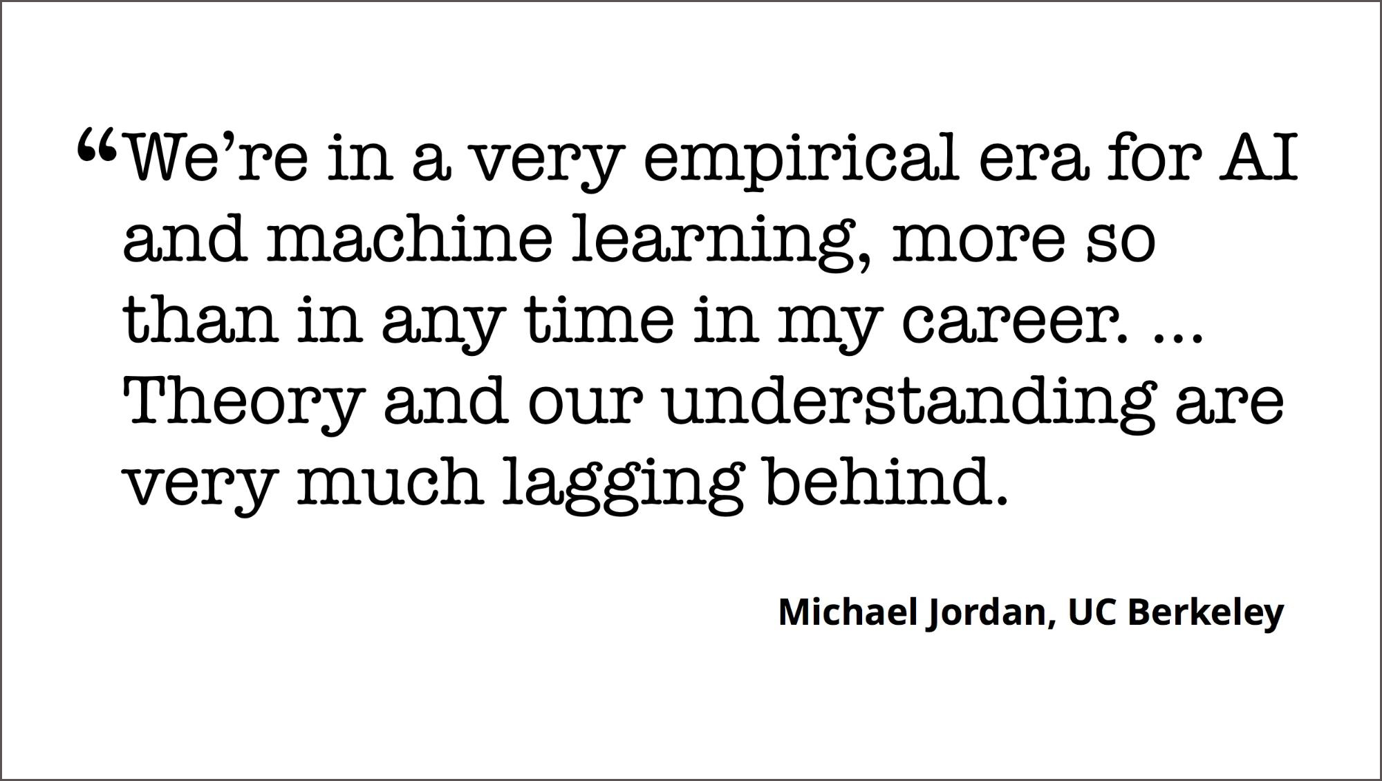 machine learning theory and understanding