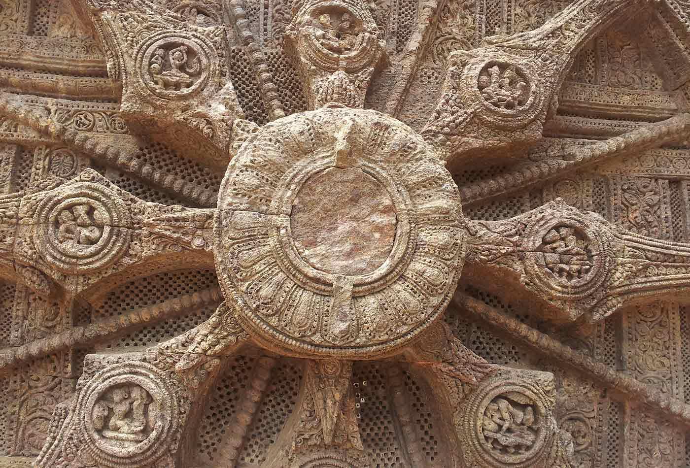 A chakra inscribed on Konark Sun Temple