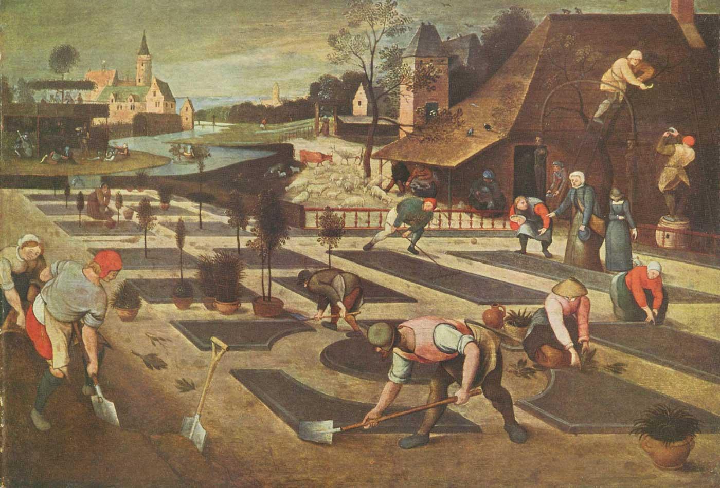 """""""Lente,"""" by Abel Grimmer, 1607."""