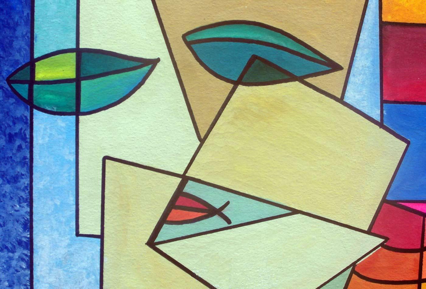 Résumé Picasso style visage.
