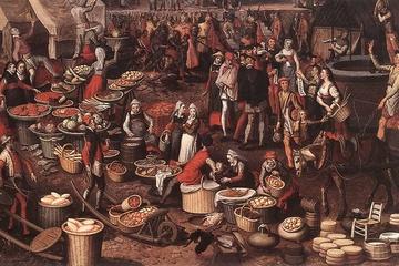 """Market Scene,"" by Pieter Aertsen, 1550."