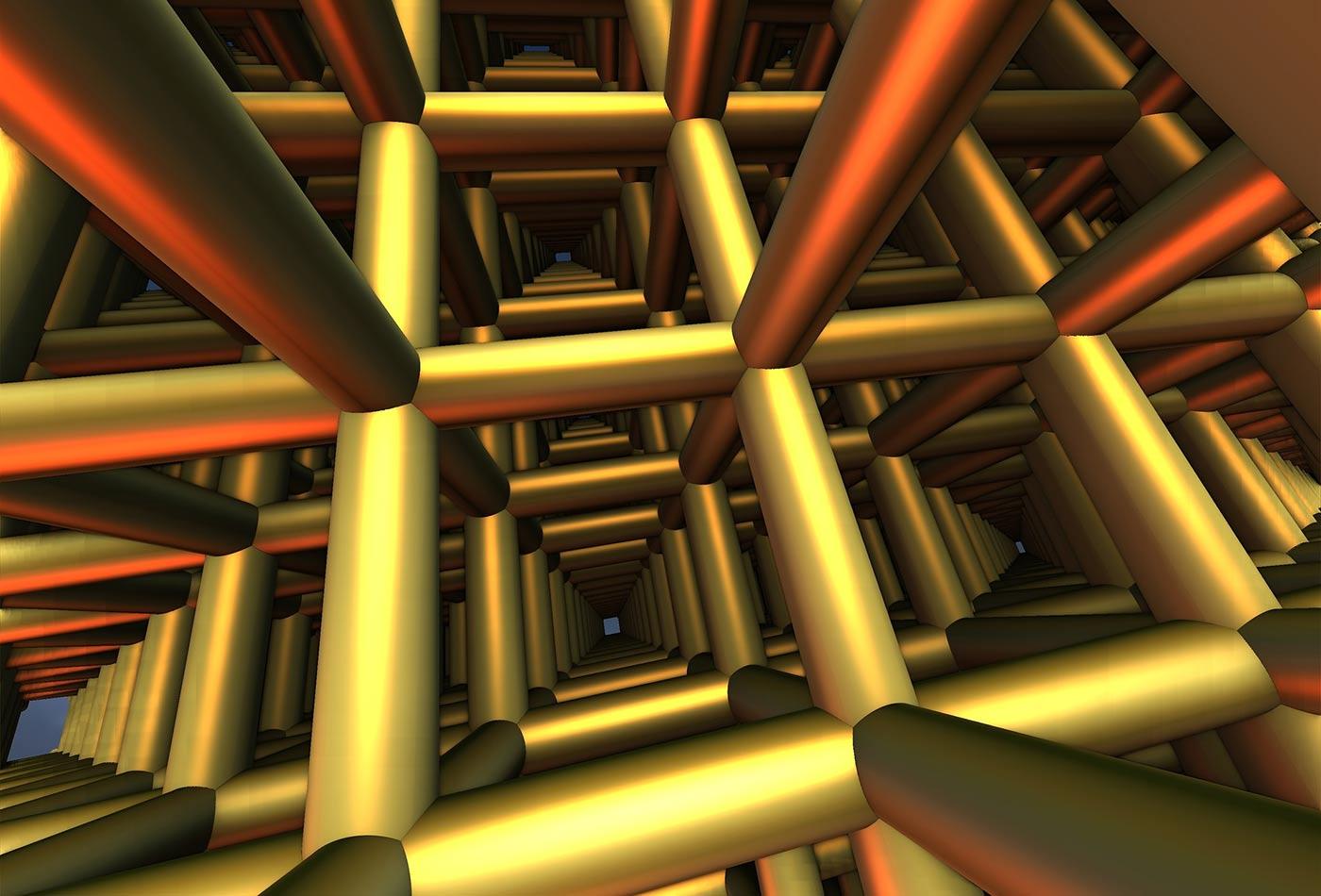 Pipe grid.