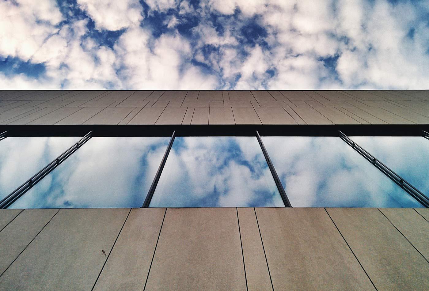 Sky reflection.