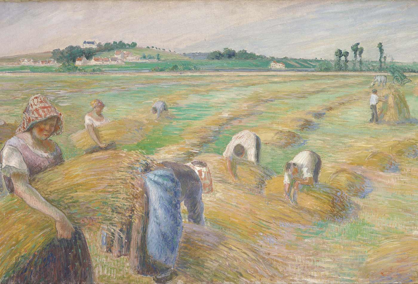 """""""The Harvest,"""" by Camille Pissarro, 1882."""