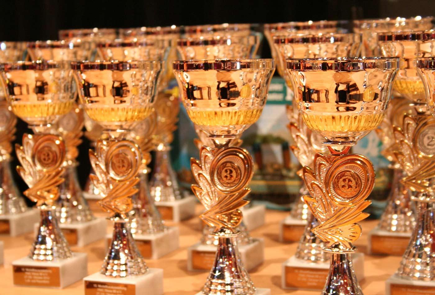 Winner's cups.