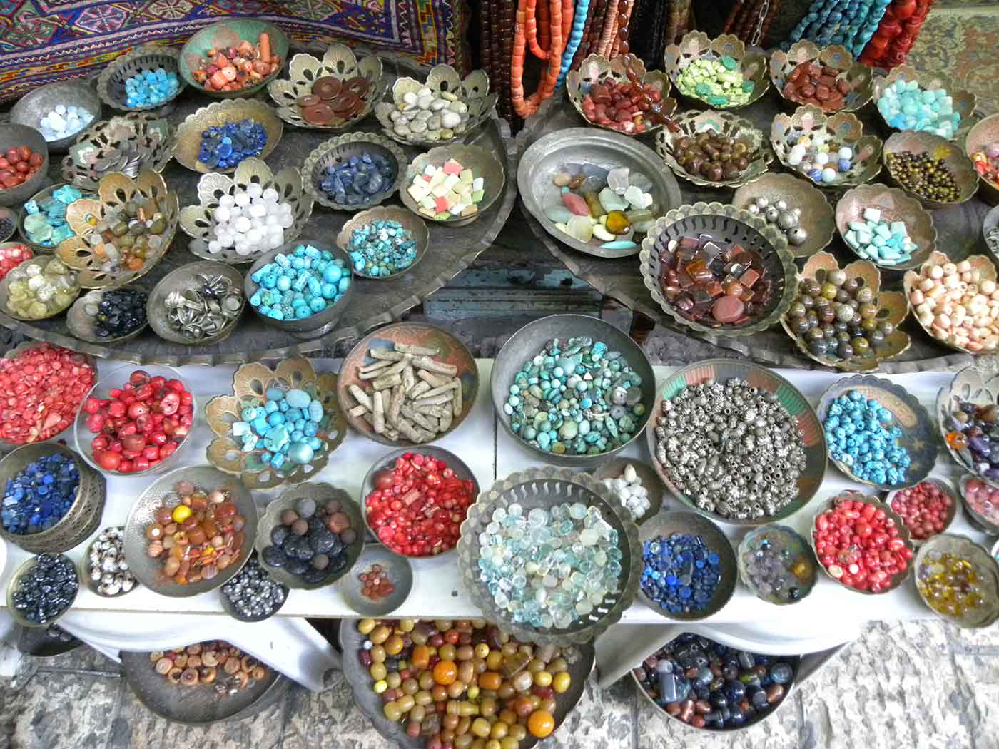 Beads in the Suq of Old Jerusalem